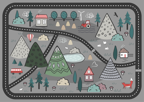 Adventure Awaits Play Mat - Grey