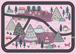 Adventure Awaits Play Mat - Pink - Lilli May Collections