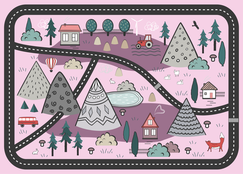 Adventure Awaits Play Mat - Pink