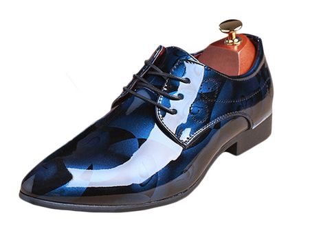 blue mens fashionable dress shoes