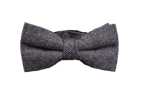 Black and white subtle striped Bow tie