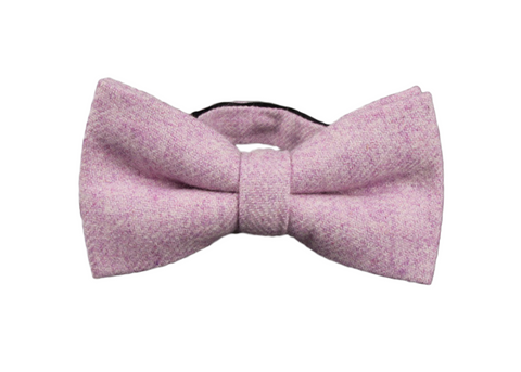 soft, sweet, pink wool bowtie