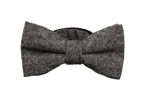 Black and White Wool Bow Tie