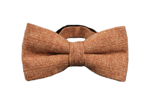 Orange Brown Wool Bow Tie
