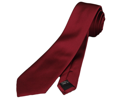 Perfect Crimson red skinny slim neck tie