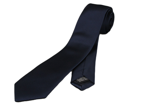 Perfect skinny slim dark blue tie