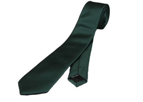 Perfect skinny slim dark Green tie