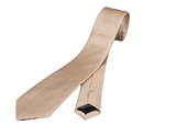 Skinny slim champagne colored neck tie