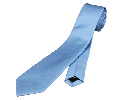 Perfect skinny slim sky blue tie