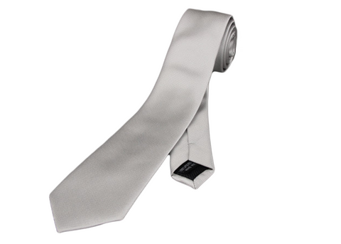 Perfect Gray Silver skinny slim neck tie