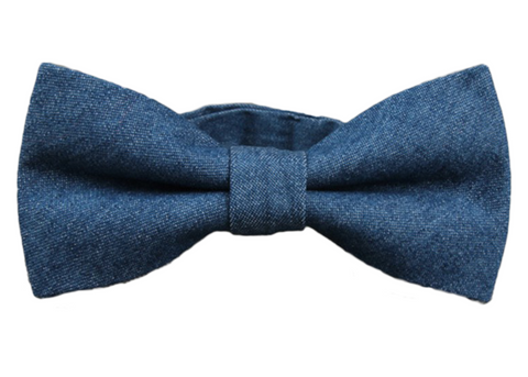 Blue Jean colored Cotton Bow Tie