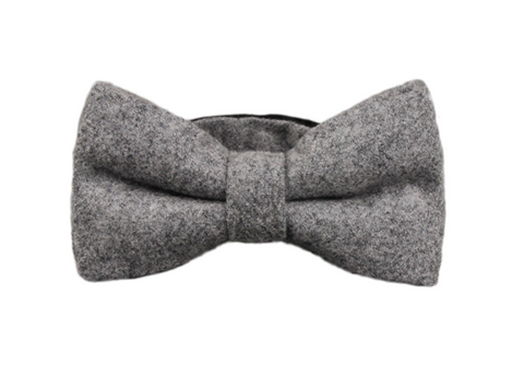 Grey Wool Bow Tie