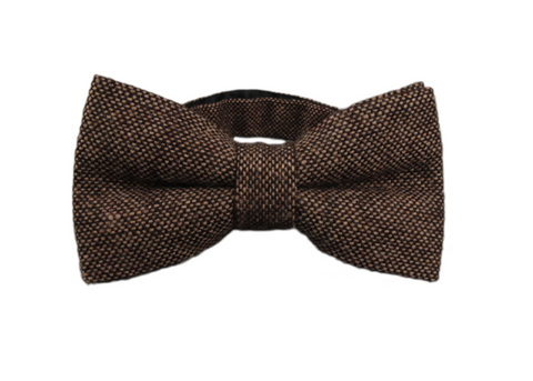 Dark Brown Wool Bow Tie