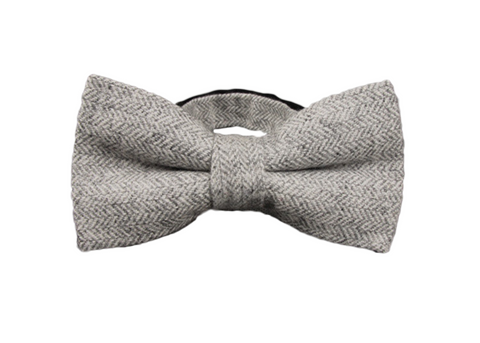 Classy Gray Wool Bow Tie