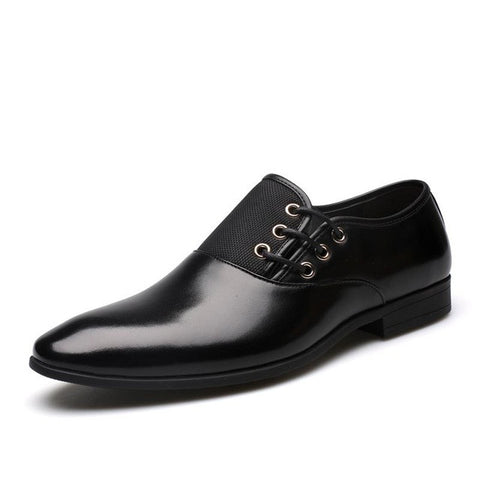 Black Mens Luxury Leather Dress Shoes