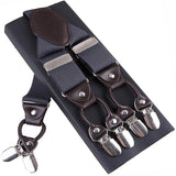 Dark Gray High-Quality Spandex Suspenders
