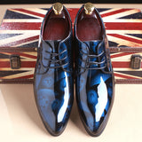 Blue fashionable dress shoes