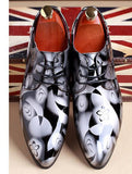 white and black mens fashionable dress shoes