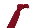 Red and black patterned cotton neck tie