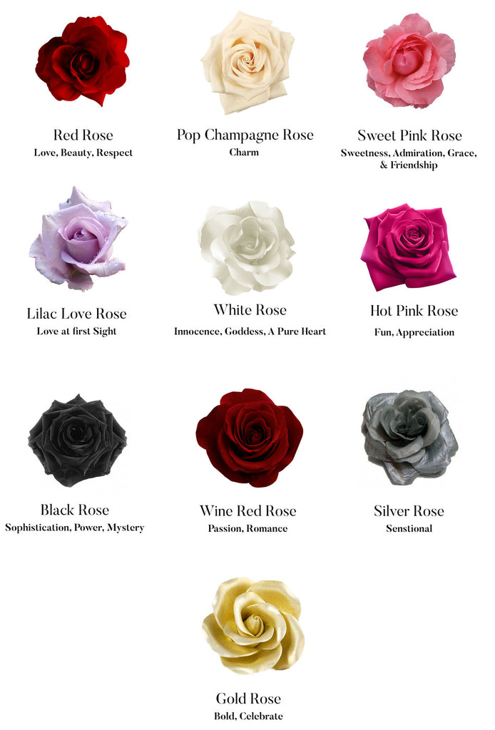 Rose Color Meanings Chart: Chi Fleurs