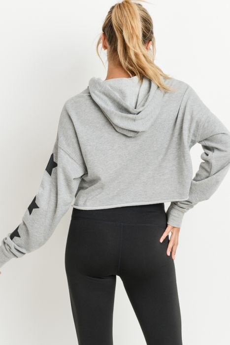 Shine on crop hoodie