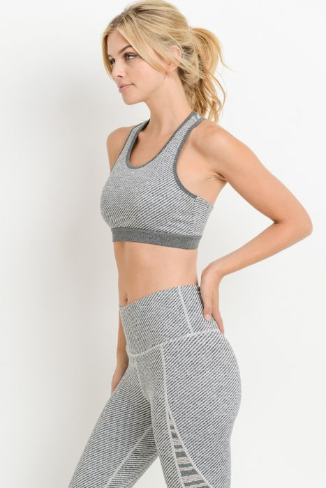 Shades of grey sports bra
