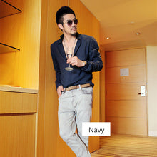 Plus Size Shirts Cotton Linen Men Shirt Long Sleeve Summer Style Hawaiian Shirts Sexy Slim Fit Men Clothes 2016 New Arrival C01