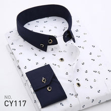 2017 Spring Floral Print Men Shirts Long Sleeve Mens Casual Shirt Slim Men Flower Printing Dress Shirts camisa masculina