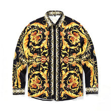 Fashion Medusa Men Brand clothing Digital printing Colour Mixture Luxury Casual Harajuku Shirts Long-sleeved Men's Medusa Shirts