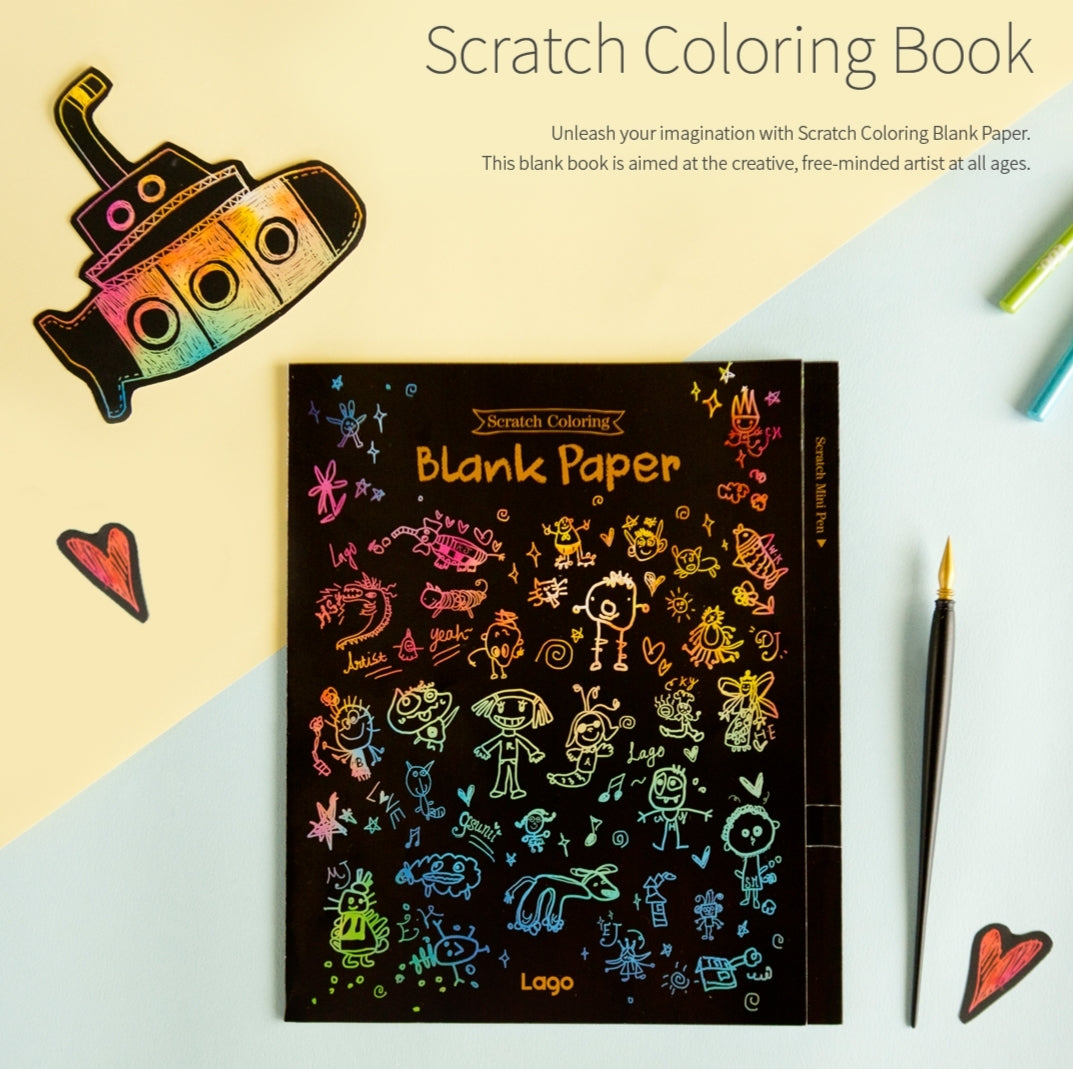 Scratch Coloring Book - Blank Pages – Lago USA, INC