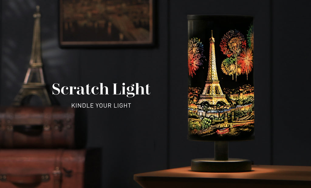 Scratch Light - Turn Your Scratch Art into a Dazzling Lamp