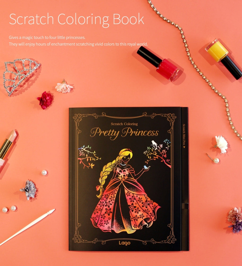 Scratch Coloring Book - Pretty Princess