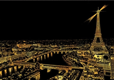 Scratch Night View - Paris (Landscape)