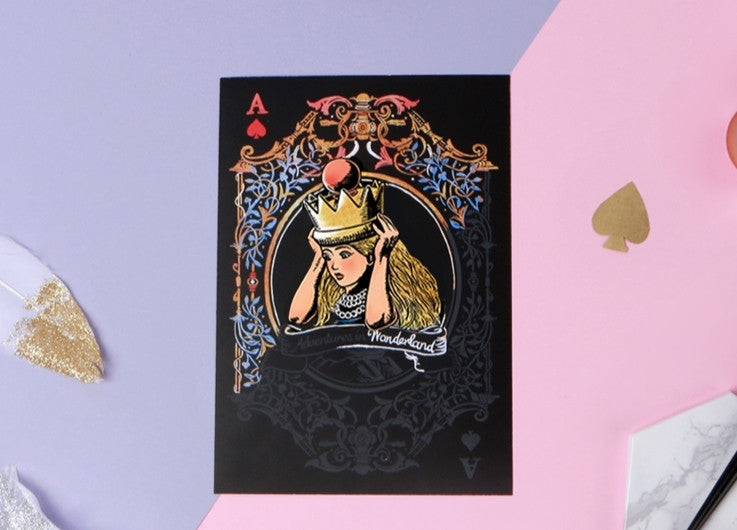 Alice in Wonderland Scratch Postcard - Alice