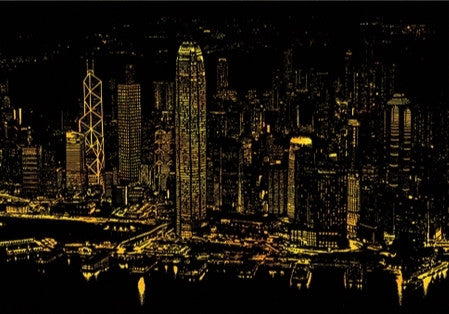 Scratch Night View - Hong Kong