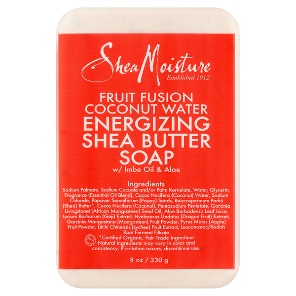 SheaMoisture Fruit Fusion Coconut Water Energizing Shea Butter Bar Soap, 8 oz