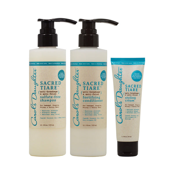 "Carol's Daughter Sacred Tiare Shmpoo & Conditioner 12oz & Styling Creme 3oz ""Combo"""