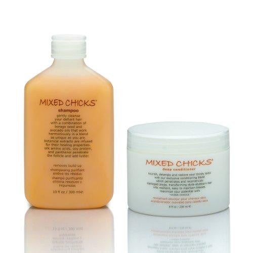 mixed chicks shampoo (10 oz) and deep conditioner (8 oz) duo