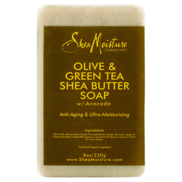 SheaMoisture Olive & Green Tea Shea Butter Soap, 8 oz
