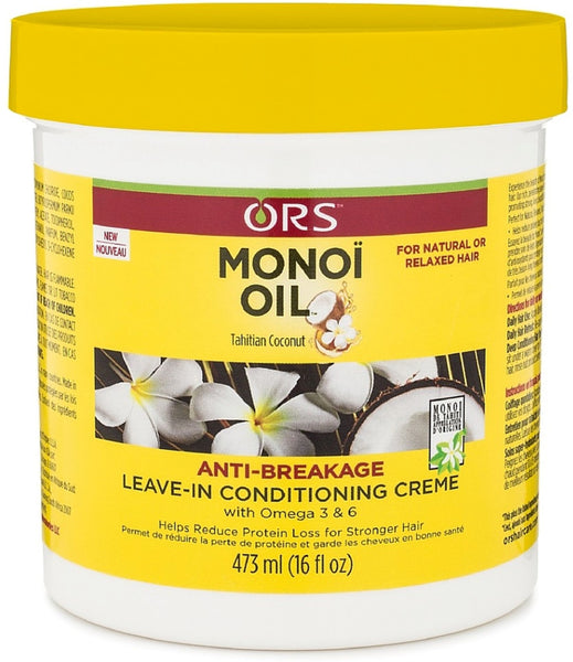 3 Pack - ORS Monoi Oil Anti-Breakage Leave In Conditioning Creme