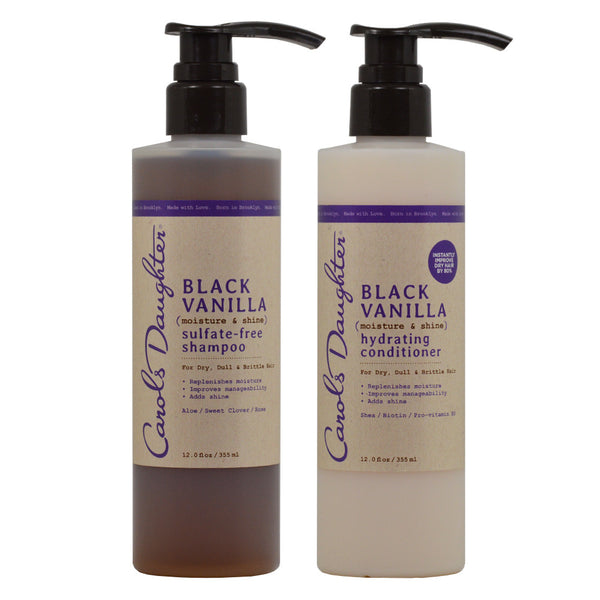 "Carol's Daughter Black Vanilla Shmpoo & Conditioner 12oz ""Set"""