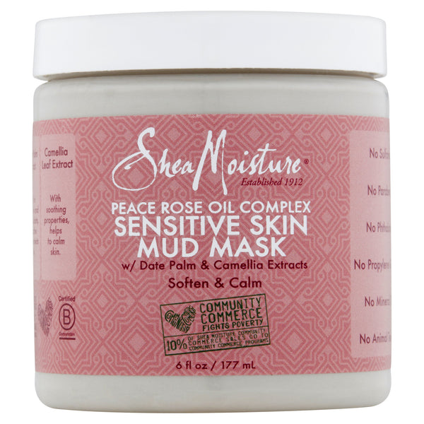 Shea Moisture Peace Rose Oil Complex Sensitive Skin Mud Mask, 6 fl oz