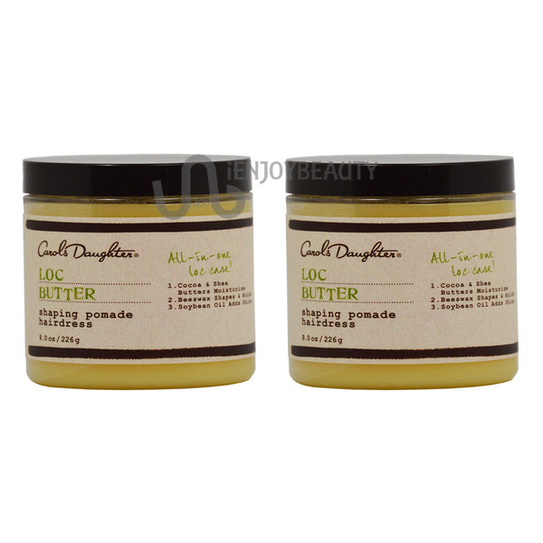 "Carol's Daughter Loc Butter Shaping Pomade Hairdress 8 oz ""Pack of 2"""