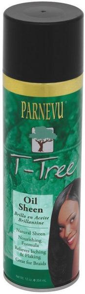 Parnevu T-Tree Oil Sheen Spray, 12 oz (Pack of 2)