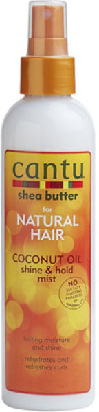 Cantu Coconut Oil Shine & Hold Mist, 8.4 oz (Pack of 2)