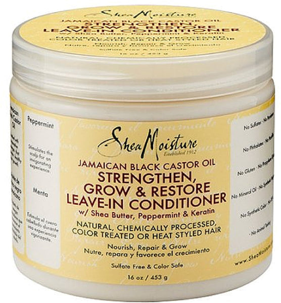 Shea Moisture Jamaican Black Castor Oil Strengthen, Grow, and Restore Leave-In Conditioner 16 oz