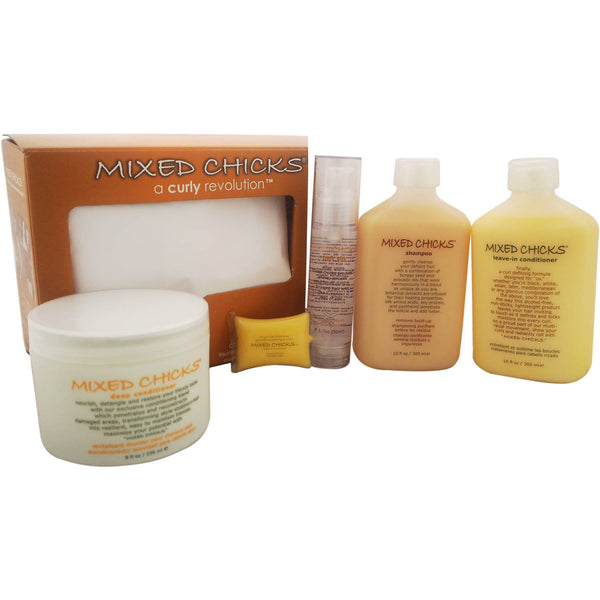 Quad Pack - A Curly Revolution by Mixed Chicks for Unisex, 4 Pc Kit