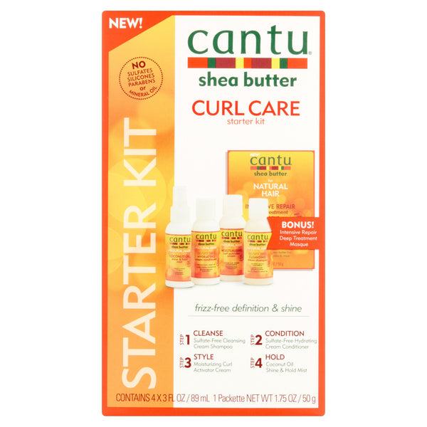 Cantu Shea Butter Curl Care Starter Kit, 3 fl oz, 4 pack