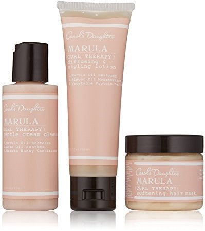 Carol's Daughter Marula Curl Therapy Collection 3-Piece Starter Kit: Cleaner 60ml + Styling Lotion 60ml + Hair Mask 60ml