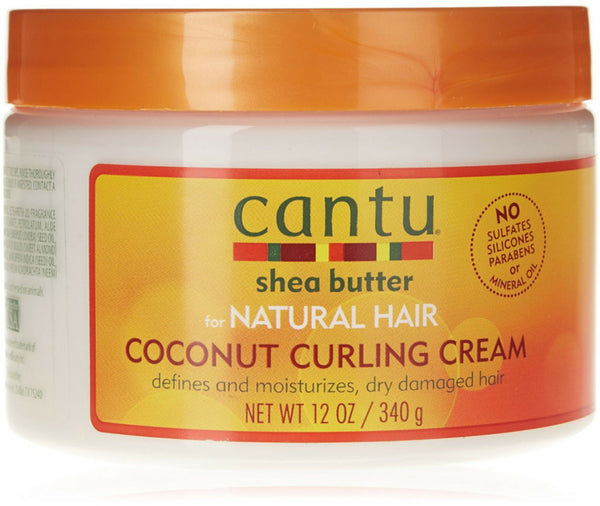 Cantu Coconut Curling Cream, 12 oz (Pack of 2)